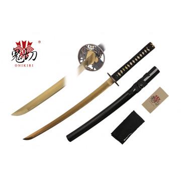 """32"""" Black Wakizashi w/ Gold Blade"""