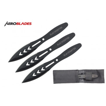 "5.5"" Set of 3 Blackwater Throwing Knives"