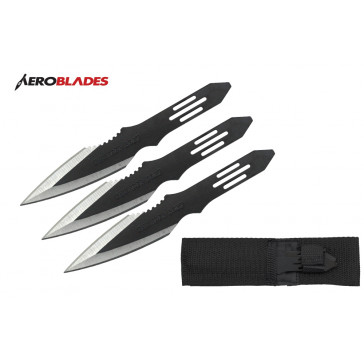 "5.5"" Set of 3 Thunderbolt Throwing Knives"