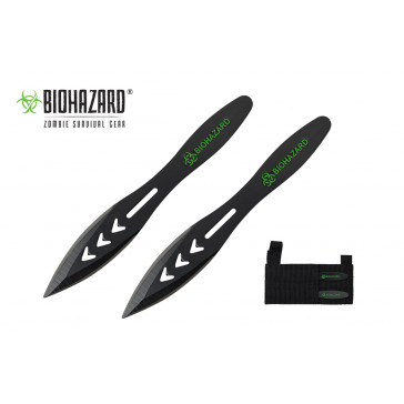 "5.5"" 2pc. Black Throwing Knives"
