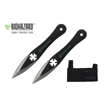 """5.5"""" 2pc. Black Throwing Knives"""