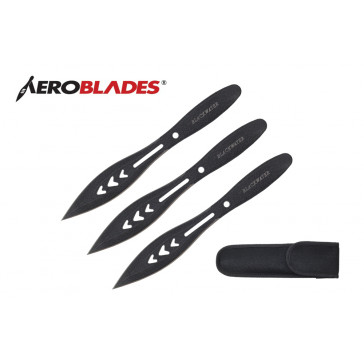 "9"" Set of 3 Blackwater Throwing Knives"