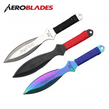 "6.5"" Set of 3 Assorted Angel Baby Throwing Knives"