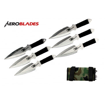 6PCS 6.5 throwing knife