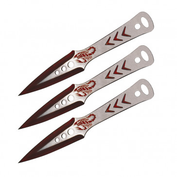 "9"" Two-Tone Scorpion Throwing Knives"