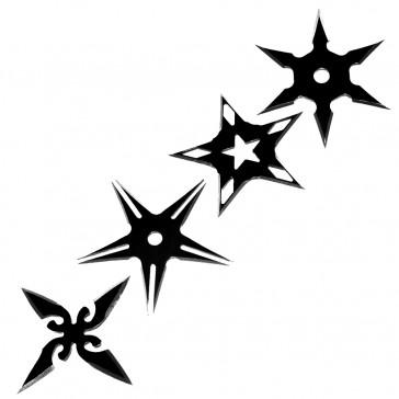 SET OF 4PCS STAR BLK STAR
