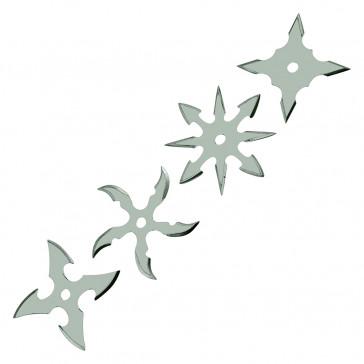 Chrome Throwing Stars