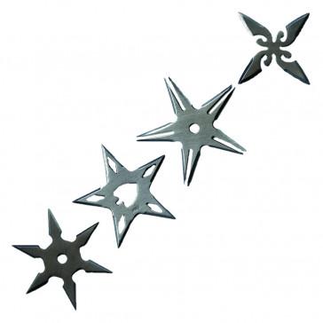 SET OF 4PCS STAR CHROME STAR