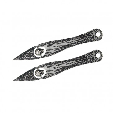 Set of 2 Floating Skull Throwing Knives