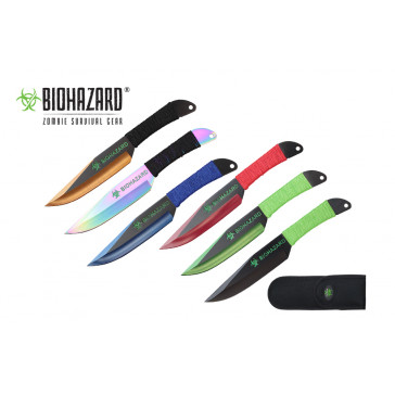 9 Inch 6pc set astd color zombie thrower