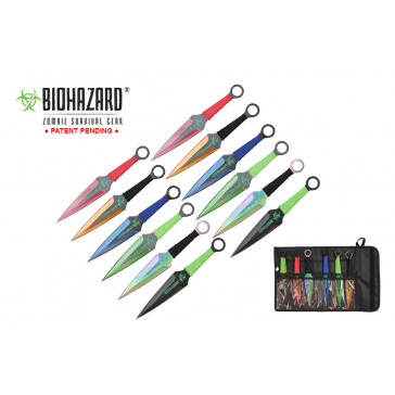 9 inch 12pc set astd color zombie thrower