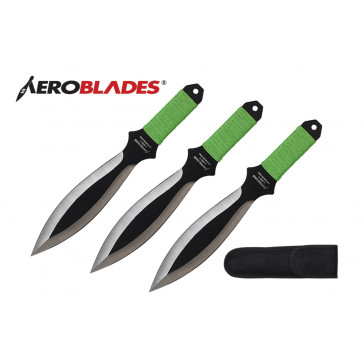 "9"" 3pc.Two-Tone Throwing Knives"