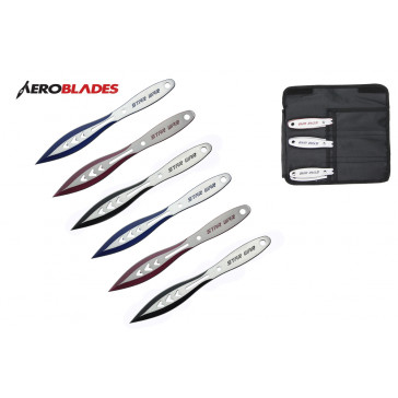 "Set of 6 9"" Assorted Star War Throwing Knives"