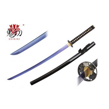 "41.5"" Black Katana w / Blue Blade"