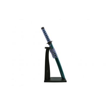 Miniature Katana  w/ Vertical Stand (Green)