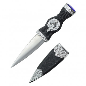 "7.25"" Overall Dirk With Lion Handle And Blue Gem"