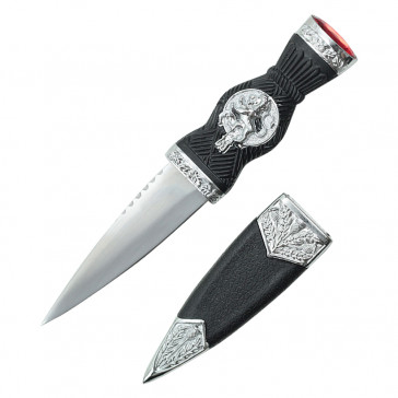 "7.25"" Overall Dirk With Lion Handle And Red Gem"