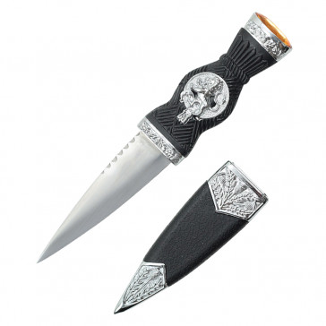 "7.25"" Overall Dirk With Lion Handle And Yellow Gem"