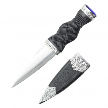 """7.25"""" Overall Dirk With Plain Handle And Blue Gem"""