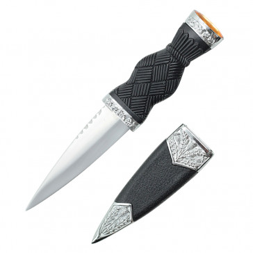 """7.25"""" Overall Dirk With Plain Handle And Yellow Gem"""