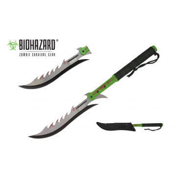 "27 3/8"" Zombie Machete w/ Backside Saw Teeth"