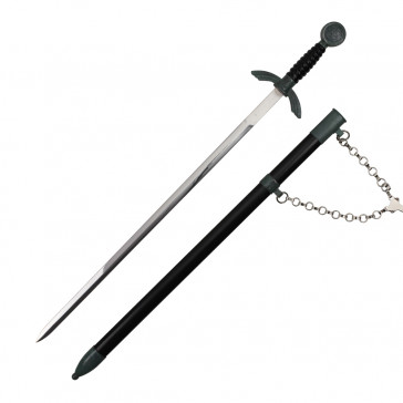 Black German Dagger With Black Scabbard