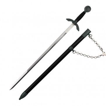 Black German Dagger With Black Scabbard