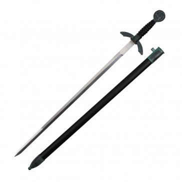 "30"" German Dagger With Black Handle And Scabbard"