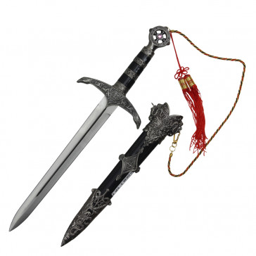 Robin Hood Dagger With Black Scabbard 11""