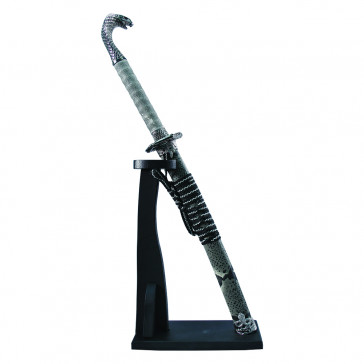 Mini Cobra Sword With Wooden Display Stand With Snake Skin Printed Scabbard
