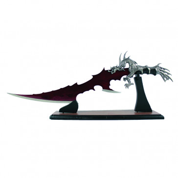 Dragon Handle Fantasy Dagger With Wooden Knife Stand