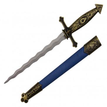 "16"" Spanish Designed Dagger With Blue Scabbard"
