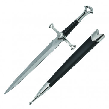"""14"""" Medieval Dagger With Black Scabbard"""