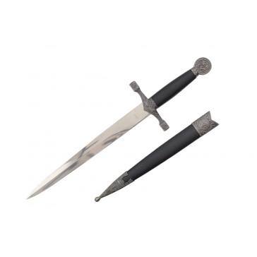 """15.5"""" Medieval Dagger w/ Dragon Engraved Pommel"""