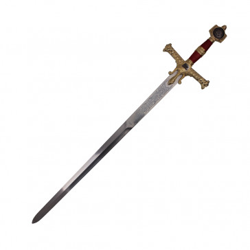 "48"" Red King Solomon Sword With Red And Gold Handle"