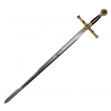 "45"" Blue Mason Sword With Blue And Gold Handle"