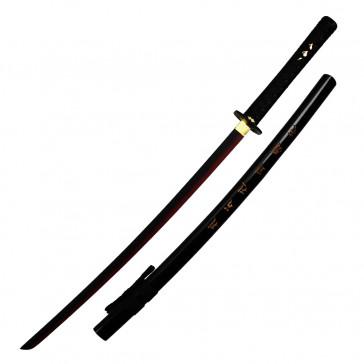 "40"" Black Katana w/ Two Tone Blade"