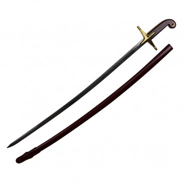 "35.5"" Red Cavalry Sword With Gold Accent And Scabbard"