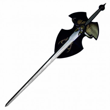 "50"" Fantasy Sword With Horns Comes With Wooden Display Plaque"