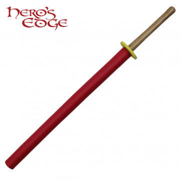 "36"" Foam Red Padded Practice Sword"