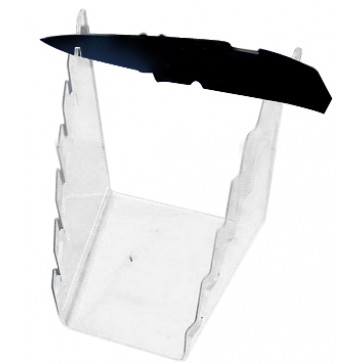 6 Piece Clear Pocket Knife Stand