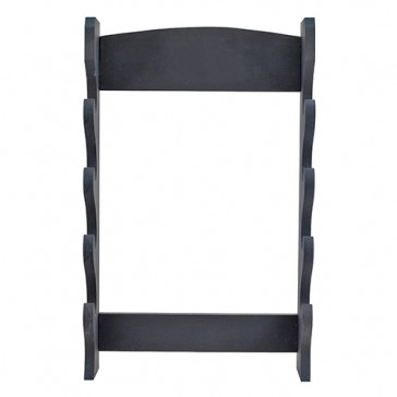 4 Piece Black Wooden Wall Stand