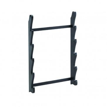 6 Piece Black Wooden Floor Stand