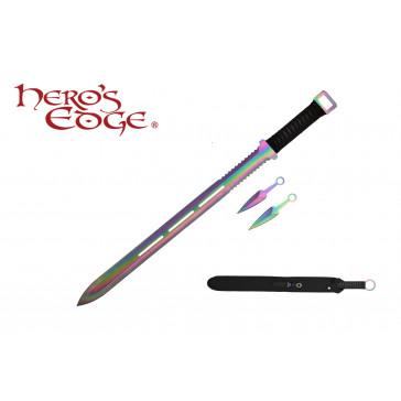 "28"" Ninja Sword w/ Throwing Knives"