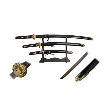 3 Piece Samurai Sword Set