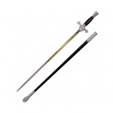 "35.5"" Black Columbus Sword With Scabbard -Historical-"