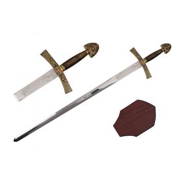 """40"""" Ivanhoe Sword (Sword & Plaque)"""