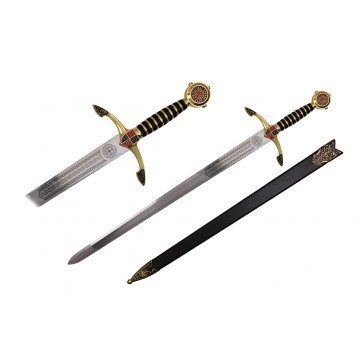 "44"" Black Prince Sword (Sword & Sheath)"
