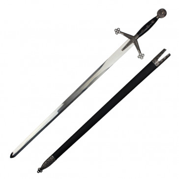 "44"" CLAYMORE SWORD W/SCABBARD"