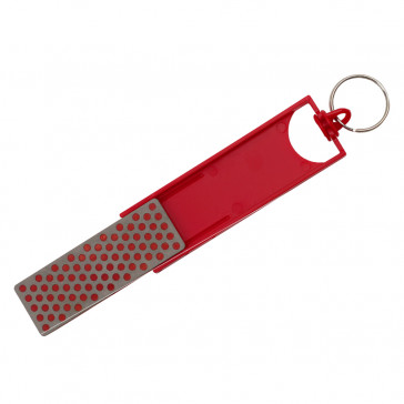 Red Key Chain Stone Sharpener